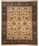 RugStudio presents Lotfy and Sons Vintage 135b Gold/Black Hand-Knotted, Best Quality Area Rug